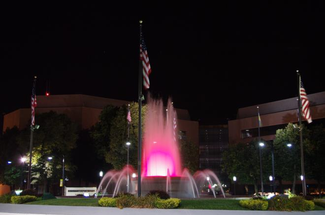 Clear Red Fountain